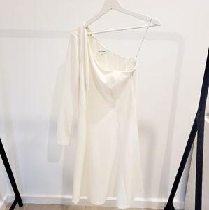 White Calvin Klein midi dress